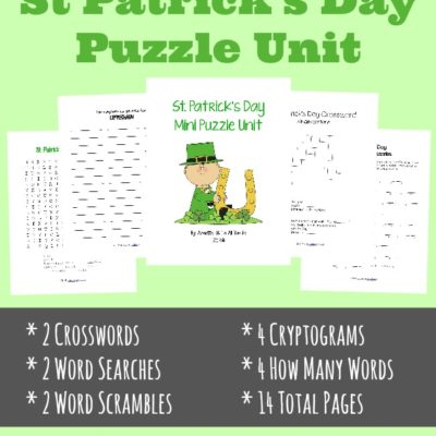 {free} St. Patrick's Day Mini Puzzle Unit