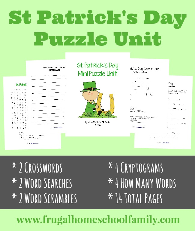 picture about St Patrick Day Puzzles Printable Free called free of charge St. Patricks Working day Mini Puzzle Gadget - Within just All By yourself Do