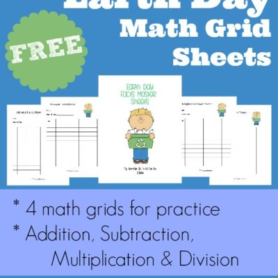 {FREE} Earth Day Facts Master Math Grid Sheets