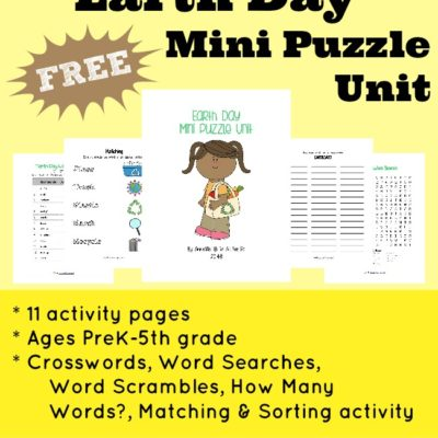 Earth Day Mini Puzzle Unit {freebie}