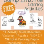 Jump Into Fall Coloring Activities