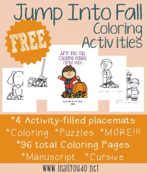 Jump in to Fall Coloring Activities
