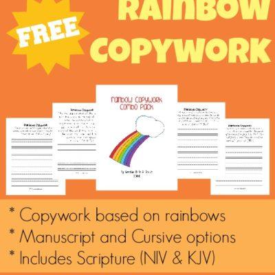 {free} Rainbow Copywork