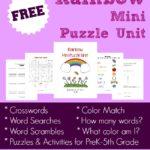 {free} Rainbow Mini Puzzle Unit