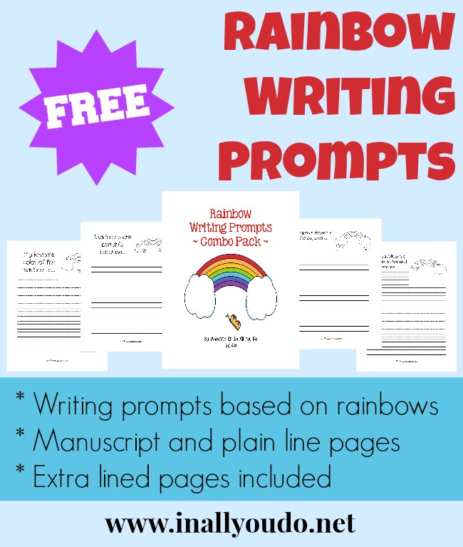FREE Rainbow Writing Prompts