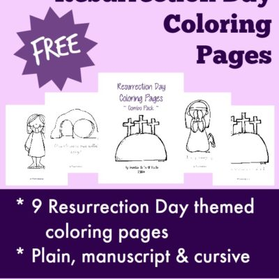 Resurrection Day Coloring Pages