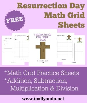 Resurrection Day Themed Math Grids