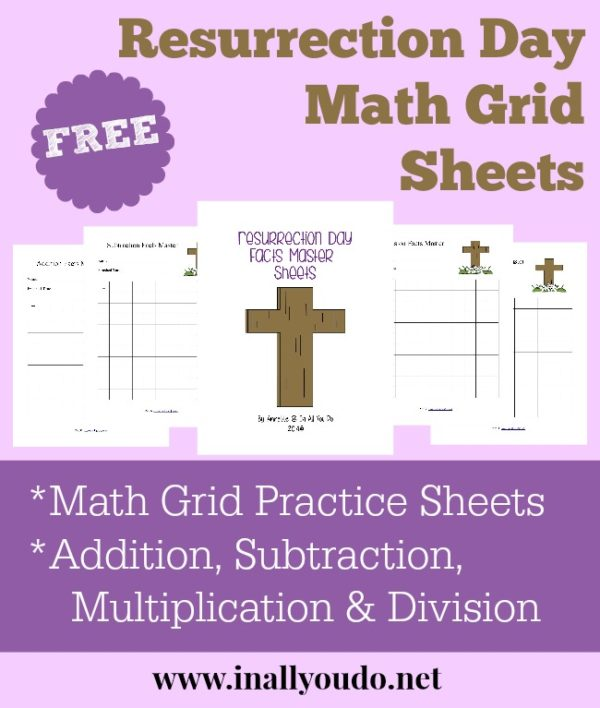 Facts Master Math Grids are a fun and easy way to help kids work on and master their math facts. These grids can be used for addition, subtraction, multiplication and division. They have a Resurrection Day theme, so you can include them with all my other Resurrection Day printables for a complete unit. :: www.inallyoudo.net
