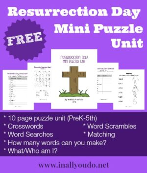 Resurrection Day Puzzles & Activities
