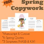 Spring Copywork: Quotes & Scripture
