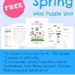 Spring Mini Puzzle Unit