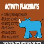 {free} Going to the Zoo Activity Placemats