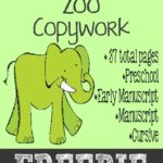 {free} Going to the Zoo Copywork Printables