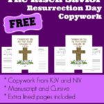The Risen Savior ~ Resurrection Day Copywork