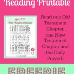 April Daily Bible Reading Printable