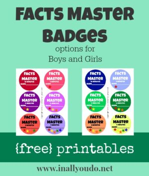 Facts Master Badges