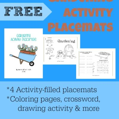 Gardening Activity Placemats