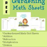 Gardening Math Sheets