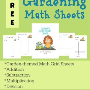 These FREE Gardening Math Sheets are a fun way to practice math facts (addition, subtraction, multiplication & division) with a little bit of a competitive spirit. Includes 4 Garden-themed grids! :: www.inallyoudo.net