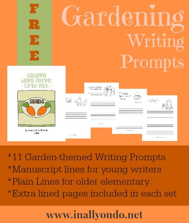 FREE Gardening Writing Prompts