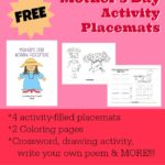 Mother's Day Activity Placemats
