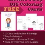Mother's Day DIY Coloring Cards