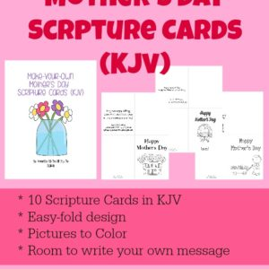 Moms love cards from their children. Now you can give her one with KJV verses to show her how much she means to you! Simply download, print and deliver! :: www.inallyoudo.net