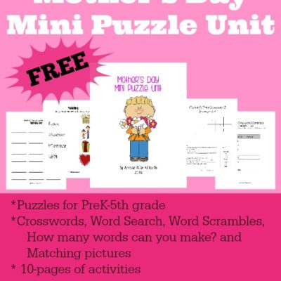 Mother's Day Mini Puzzle Unit