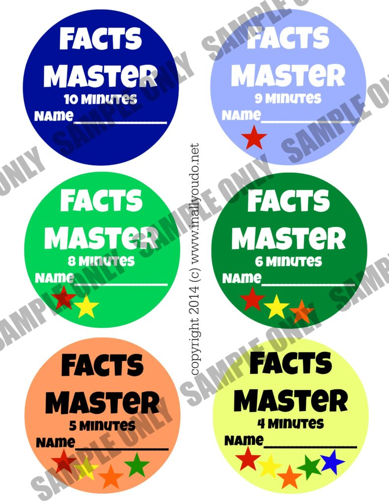 Sample Facts Master Badges for Boys