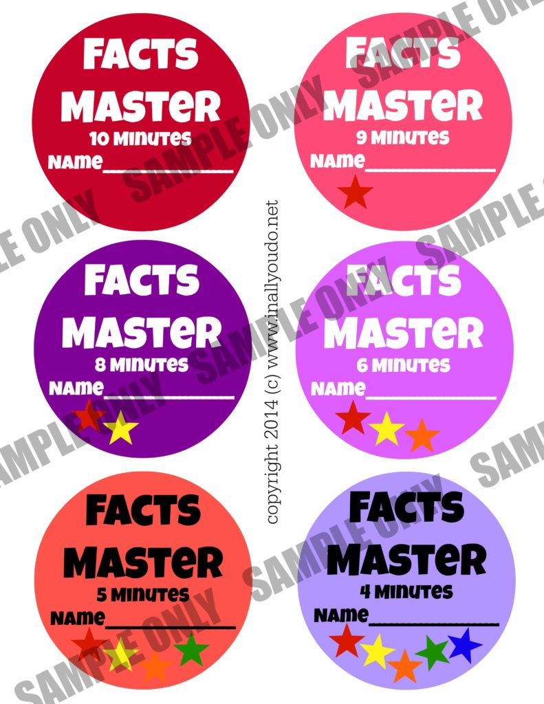 Sample Facts Master Badges for Girls