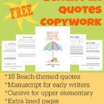 FREE Beach Fun Copywork Printables
