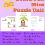 {free} Beach Fun Mini Puzzle Unit