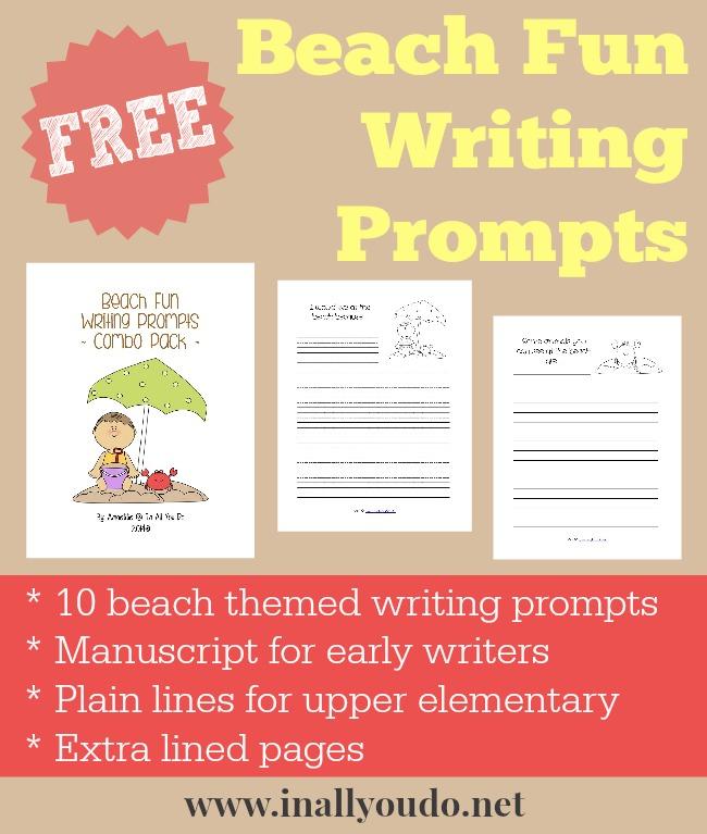 FREE Beach Fun Writing Prompts