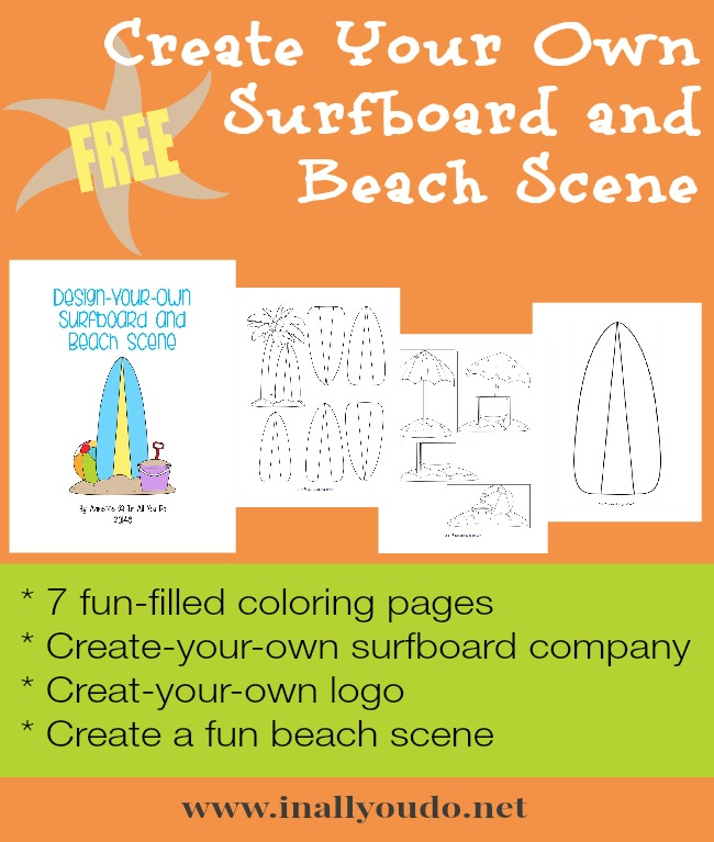 FREE Create Your Own Surfboard & Beach Scene