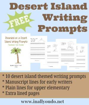 Desert Island Writing Prompts