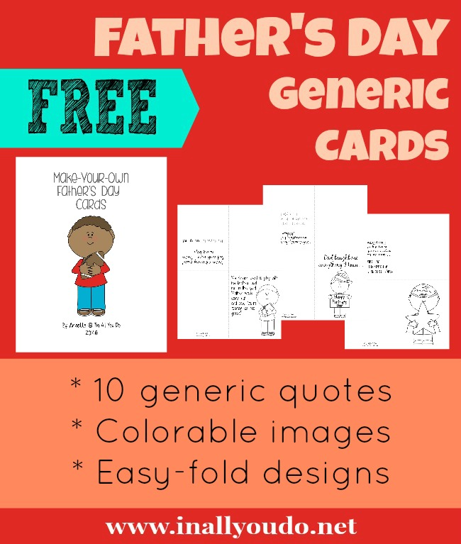 FREE Father's Day Generic Cards