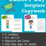 FREE Father's Day Scripture Copywork (ESV & KJV)