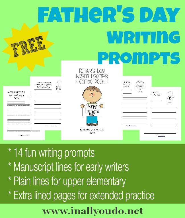 FREE Fathers Day Writing Prompts