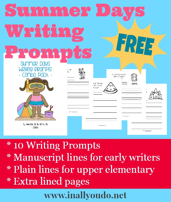 FREE Summer Days Writing Prompts