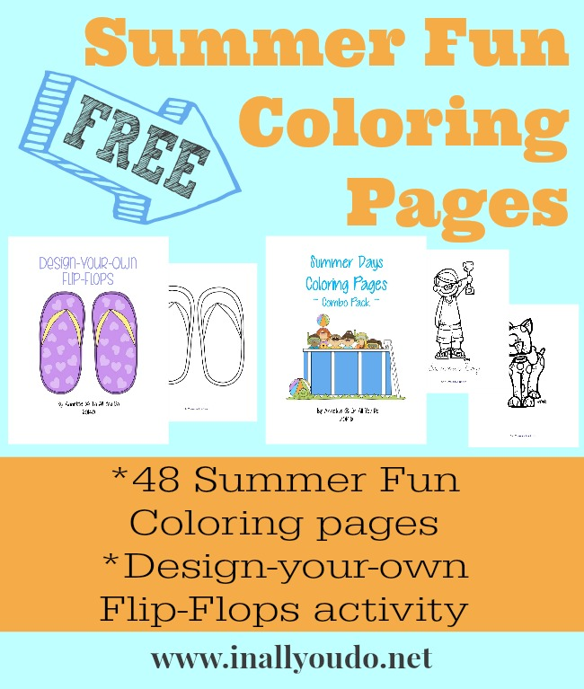 FREE Summer Fun Coloring Pages