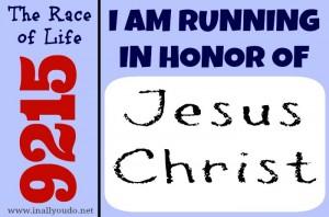 Running for Jesus Christ