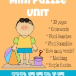 Summer Days Mini Puzzle Unit {free printables}