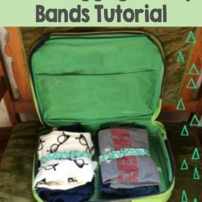 DIY Adult Luggage Clothing Wrap Bands Tutorial