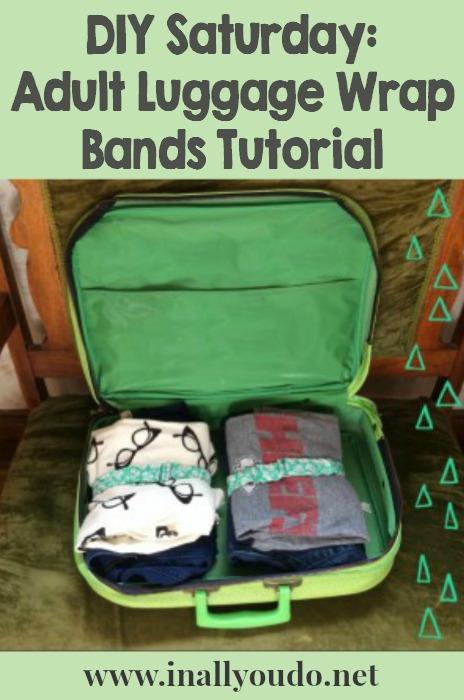 DIY Luggage Wrap Bands Tutorial