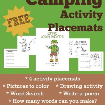 Camping Activity Placemats