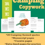 Camping themed Copywork