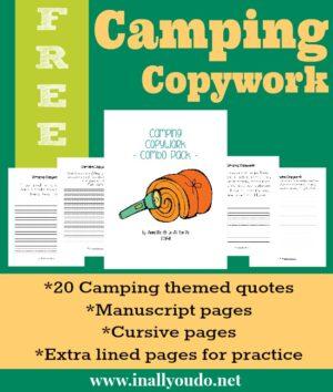 Camping Copywork