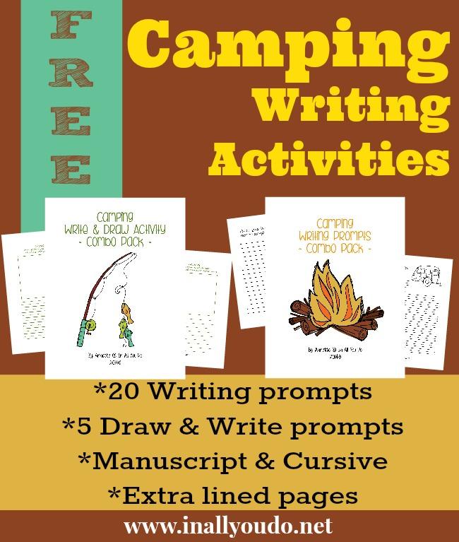 FREE Camping Writing Activities