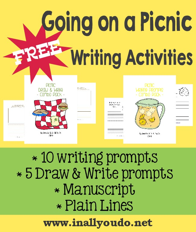 FREE Going on a Picnic Writing Activities