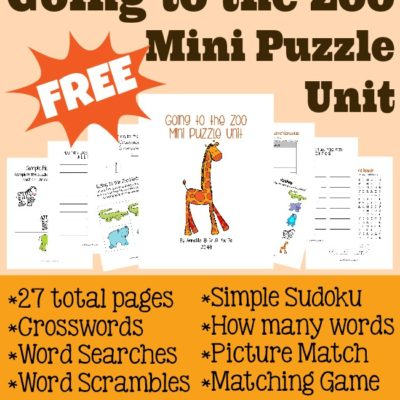 {free} Going to the Zoo Mini Puzzle Unit
